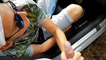 CZECH CASTING young hitchhiker is driving in the car