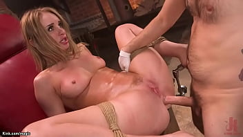 Tied Blonde Rough Anal Pounded