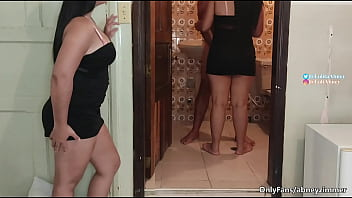 my twin sister pretends to be me to fuck my husband / I find them having sex in my bedroom bathroom / LolitaAbney