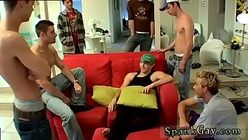 Gay bra porn video first time A Gang Spank For Ethan!