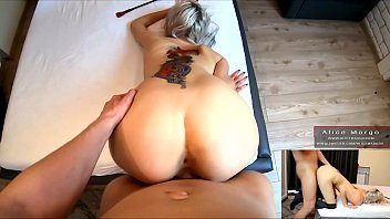 Hard DoggStyle! Sexy Tattoed Blonde! Amateur Fucking! AliceMargo.com