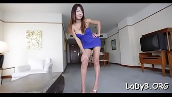 Stiff one-eyed monster for a tranny's anal