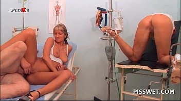 Gynecologist hardcore fucking his nurse and client