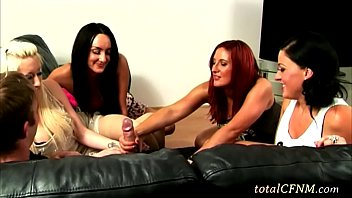 Four Wild Lesbians Gave a Nice Handjob