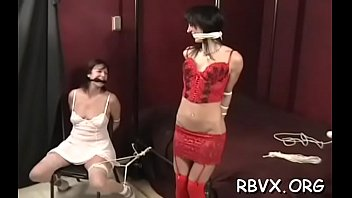 Tool stuffed in beautiful sweetheart 's mouth and cunny