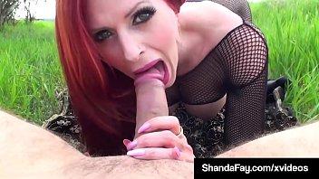 Busty Cougar Shanda Fay Gets Her Moist Muff & Mouth Stuffed!