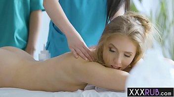 Hot massage professionals massage big boobs blonde MILF