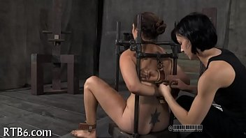Painful clamping for beauty's milk shakes