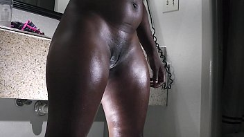 a big butt ebony gets ready for the fuck table Porno indir