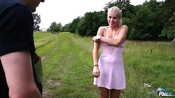Myfirstpublic Sweet Cat decide to surprice new boyfriend and fuck him public