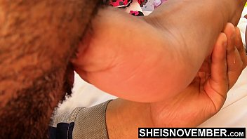 19461 4K Msnovember Little Cute Tiny Black Toes Pushed Into Your Mouth For Rough Sucking While She Wiggle Her Sexy Feet Around Your Lips And Flashing Her Tight Pussy As You Lick The Soles To Worship Her Foot HD Sheisnovember preview