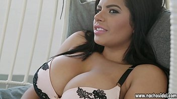 Nacho Vidal spreads Sheila's generous thighs, burying his face in her pussy. He plows her with his giant, Latin cock as she strokes her clit. thumbnail
