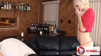 Small Tit Blonde Honey Catches Cum With Her Face