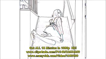 Luna Lain Strips On The Stairs - In Relief thumbnail