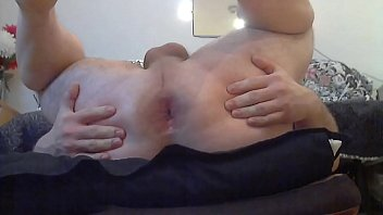 chubby bottom guy plays with his hole