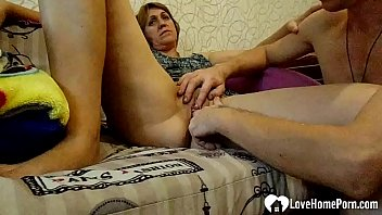 Stepmom gets her pussy fingered with passion thumbnail