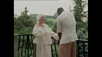 Black slave hitting on a white maid for fuck