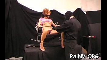 Slut gets a nipple castigation session whilst being restrained