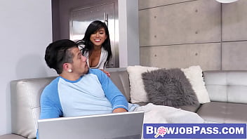 Free ember reigns full blowjob video Asian beauty ember snow makes big cock cum hard with mouth
