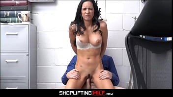 Big Tits Black Hair MILF Shoplifter Tia Cyrus Fucked By Officer To Escape Charges