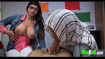 Mia Khalifa teaches her muslim friend how to suck cock 2 teen arab