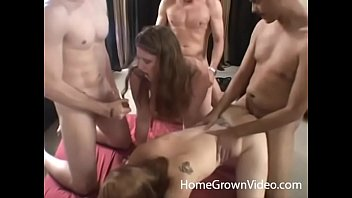 Homemade fucking videos redheads small tits - Real amateurs having an orgy with four beautiful women