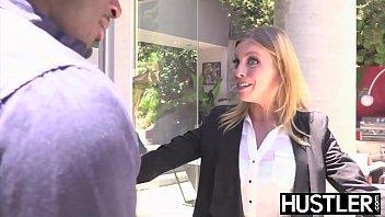 Facialized babe Britney Amber rough riding throbbing BBC