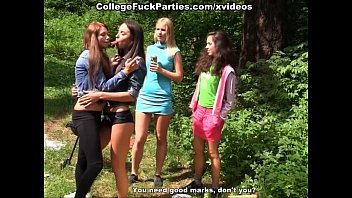student party in the woods preview image