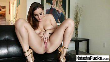 Brunette nice nude - Naturally stacked cutie natasha nice stuffs her tight pussy