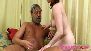 Big stepdads cock in young tiny amateur asshole, mouth deep &_ put in cunt later