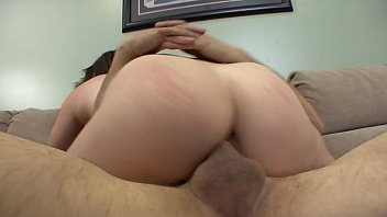 Brunette Brook Foxxx with amazing ass rides her step dad'_s cock on the couch