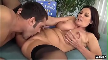 Mature Curvy in stockings seduces her stepson