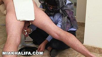 MIA KHALIFA - Arab Researching Milking Tony Rubino's Cock For Science (Loop)