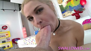 Deepthroat big tit Swallowed big boobs blonde sarah vandella solo deepthroat