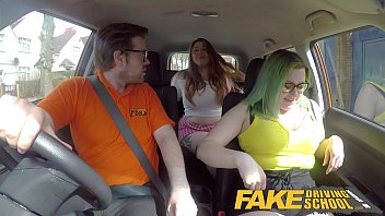 Pink thumb drive Fake driving school the sex party tryout