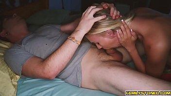 Dane feeds Bree Mitchel his large cock