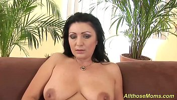 Mature thumbs with big nipples Horny mom with big nipples playing wild