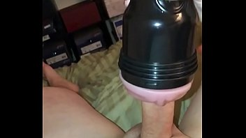 Homemade jack off fleshlight Horny girlfriend gets off fucking his cock with the new fleshlight she bought him