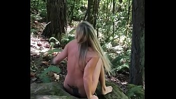 Virgin falls hiking trail Busted - naked in the woods.