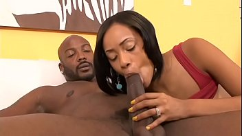Fit stud gives lusty brunette a good fuck on the sofa