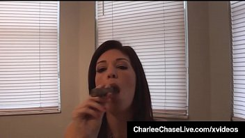 Busty Brunette Milf Charlee Chase Smokes Cigar &amp_ Cock!