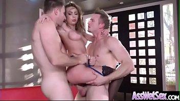 Hard Deep Anal Sex With Big Oiled Ass Girl (Kat Dior) clip-18
