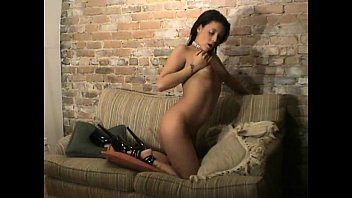 Briana Devil a teen brunette pleasing herself watching a porn movie's Thumb