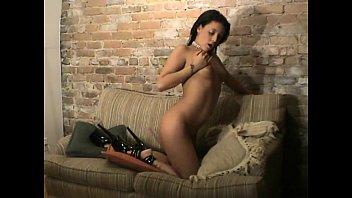 Cunt devil Briana devil a teen brunette pleasing herself watching a porn movie