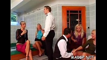 Lustful sex party full of women
