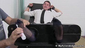 Gay friendly businesses Business gay restrained by foot fetish dominant master