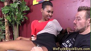 Ebony skank facialized