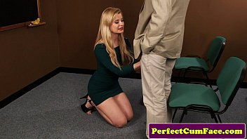 Portugeuse Blond Gives Head