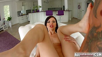 All Internal hottie Lina gets her holes filled in threesome صورة