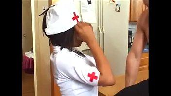 Black nurse fucked by white chef